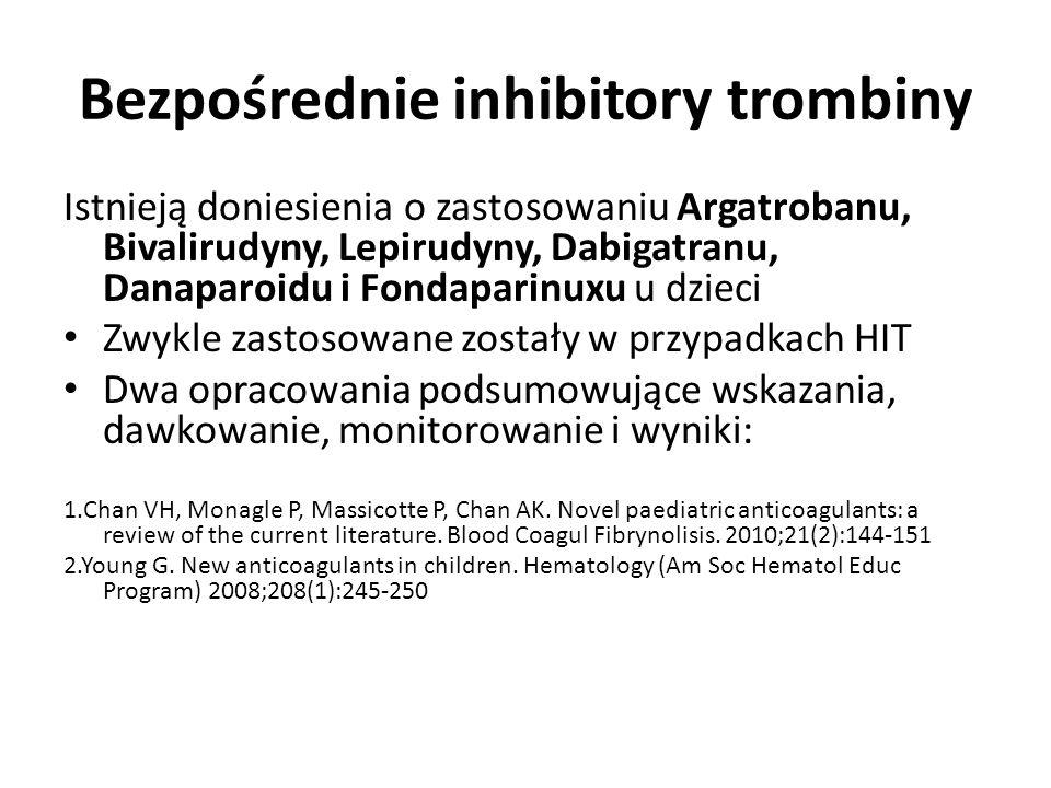 Bezpośrednie inhibitory trombiny