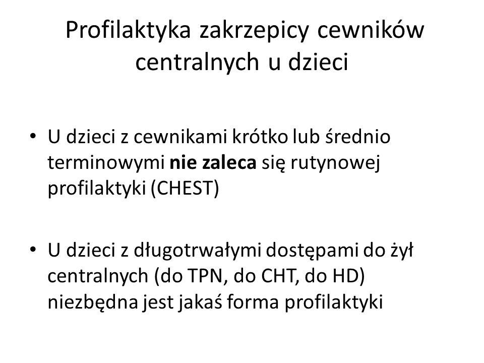 Profilaktyka zakrzepicy cewników centralnych u dzieci