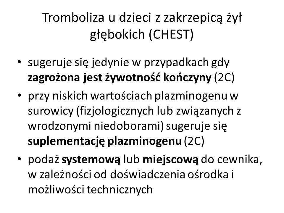 Tromboliza u dzieci z zakrzepicą żył głębokich (CHEST)