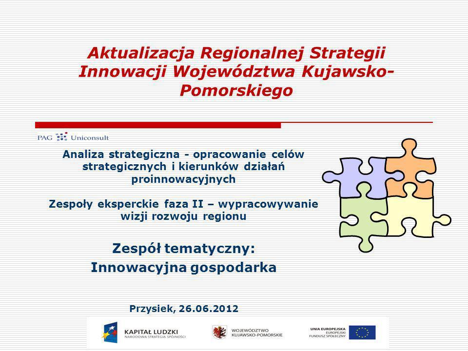 Zespół tematyczny: Innowacyjna gospodarka