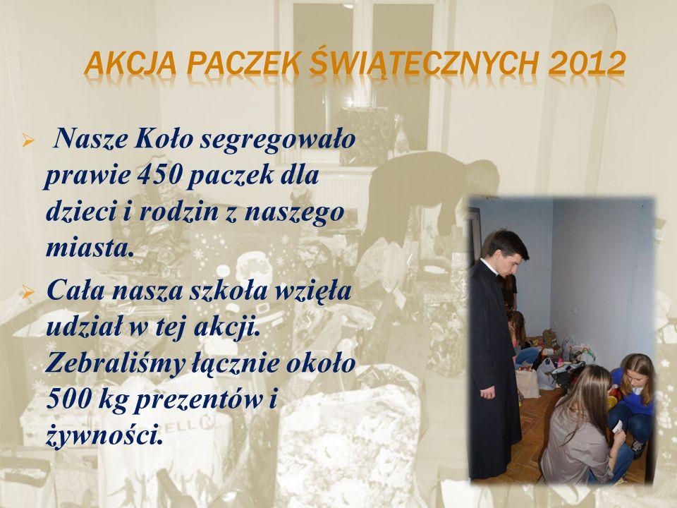 Akcja paczek świątecznych 2012
