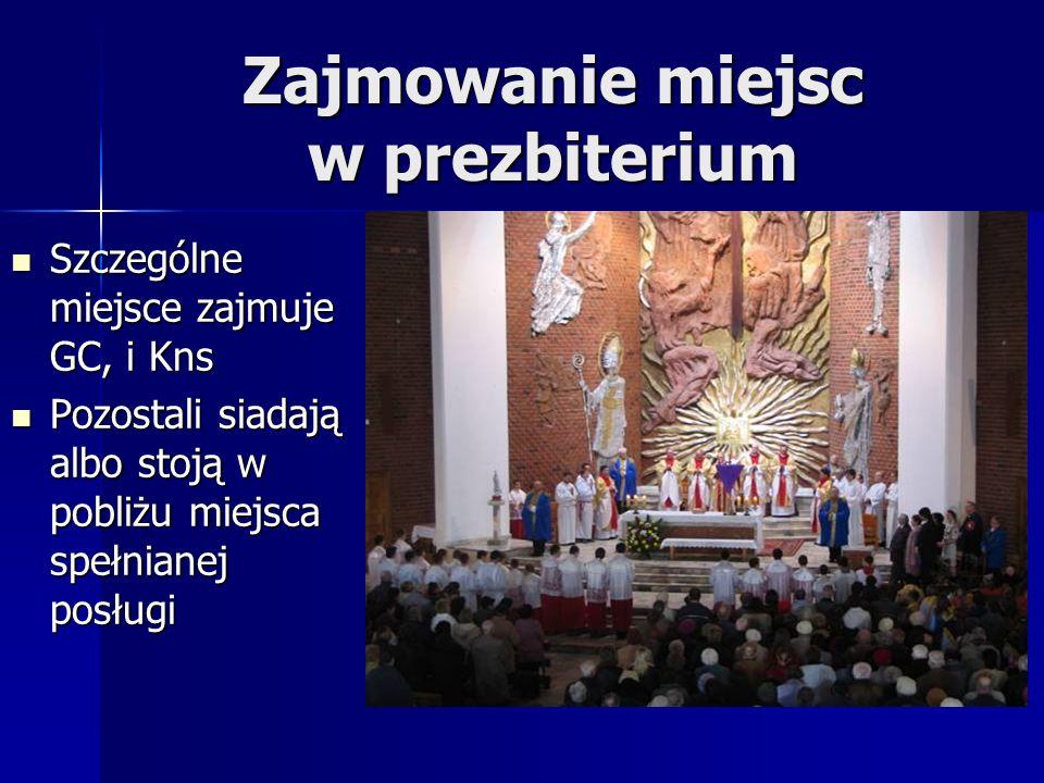 Zajmowanie miejsc w prezbiterium