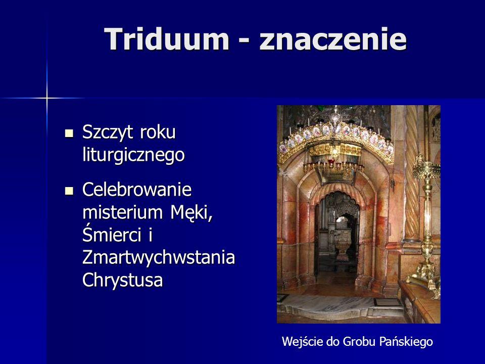 Triduum - znaczenie Szczyt roku liturgicznego