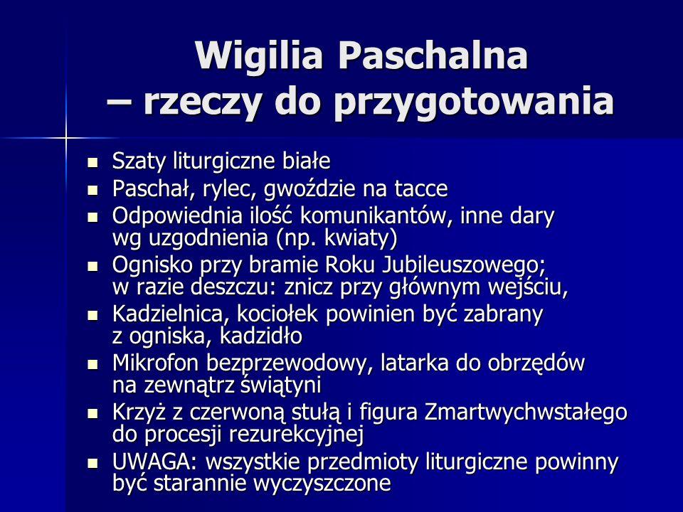 Wigilia Paschalna – rzeczy do przygotowania