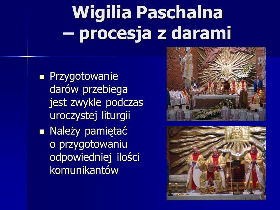 Wigilia Paschalna – procesja z darami