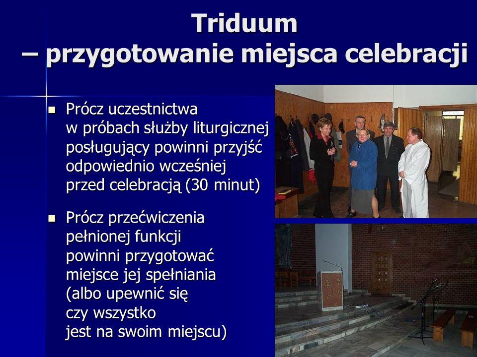Triduum – przygotowanie miejsca celebracji