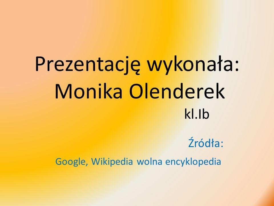 Prezentację wykonała: Monika Olenderek kl.Ib