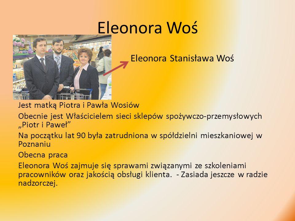 Eleonora Woś Eleonora Stanisława Woś Jest matką Piotra i Pawła Wosiów