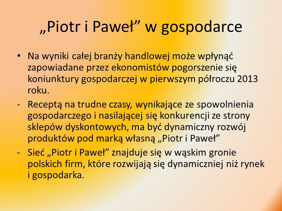 """""""Piotr i Paweł w gospodarce"""