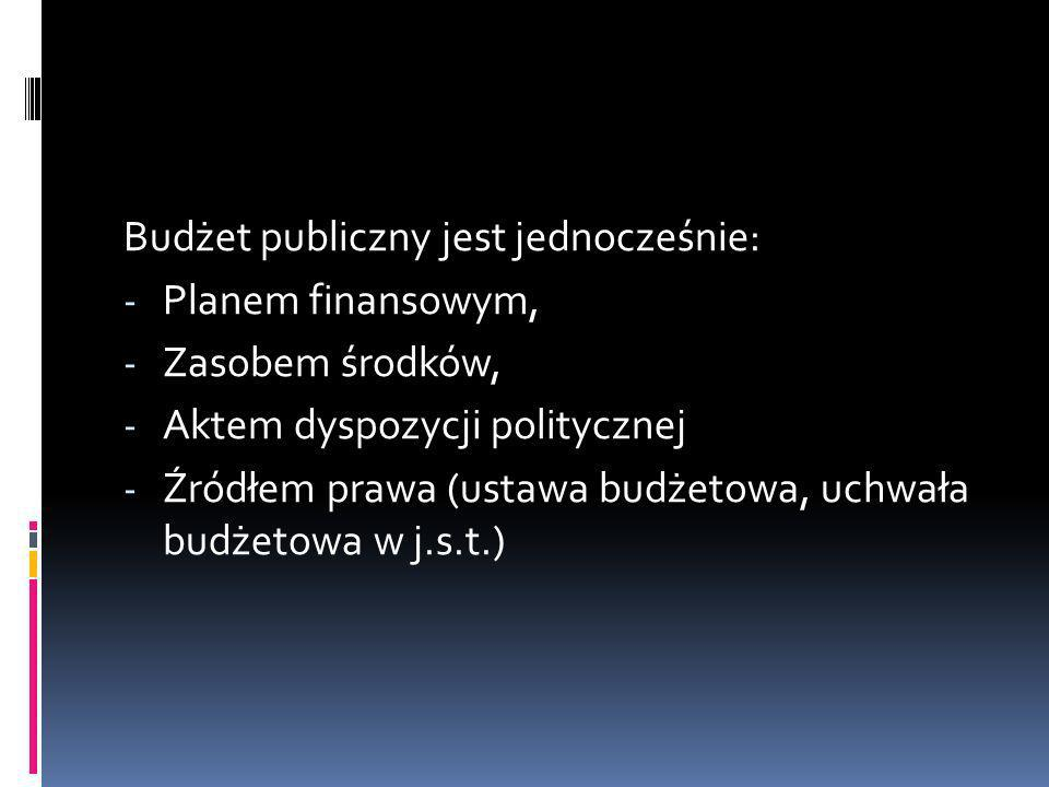 Budżet publiczny jest jednocześnie: