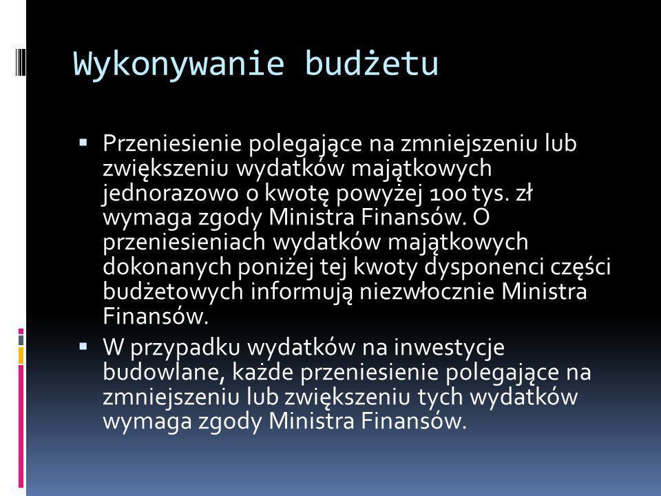 Wykonywanie budżetu