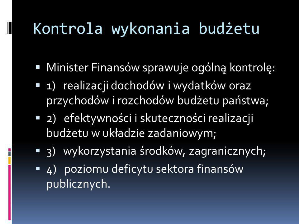 Kontrola wykonania budżetu