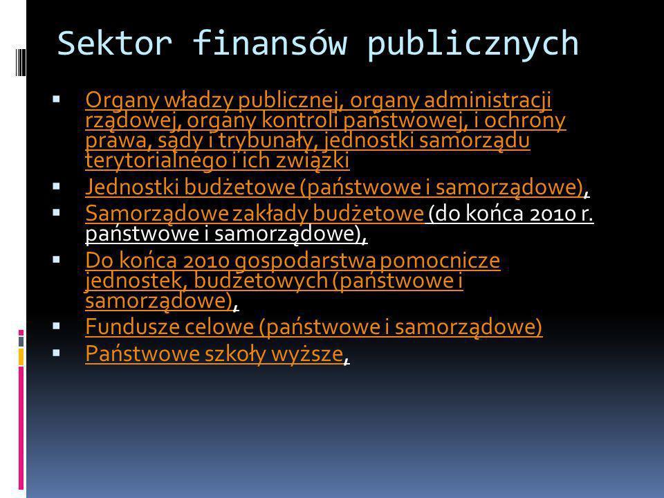 Sektor finansów publicznych