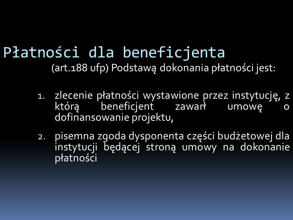 Płatności dla beneficjenta