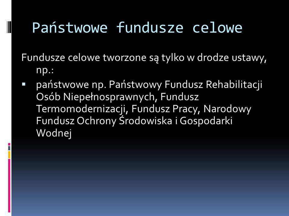 Państwowe fundusze celowe