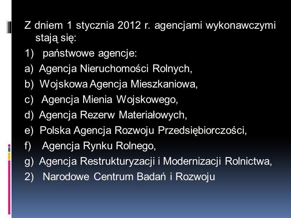 Z dniem 1 stycznia 2012 r.