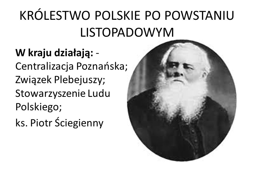 KRÓLESTWO POLSKIE PO POWSTANIU LISTOPADOWYM