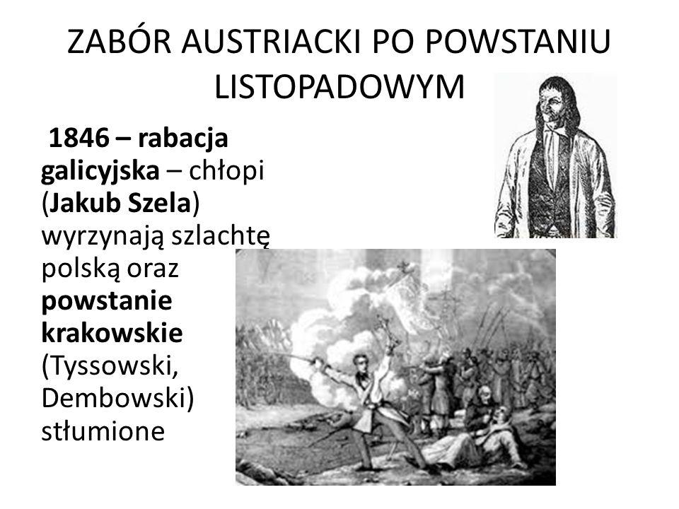 ZABÓR AUSTRIACKI PO POWSTANIU LISTOPADOWYM