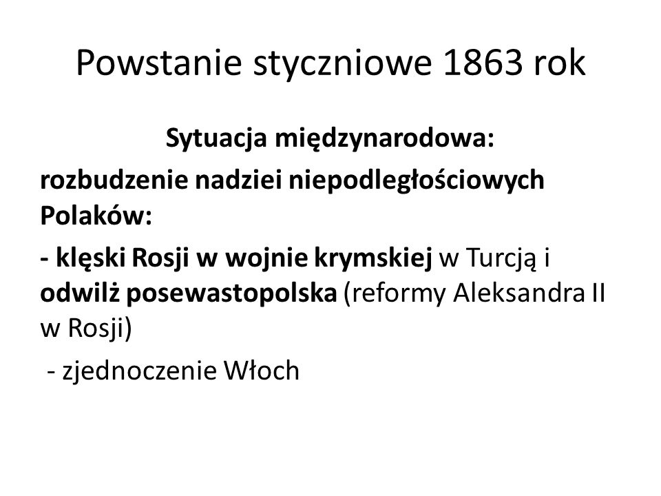Powstanie styczniowe 1863 rok