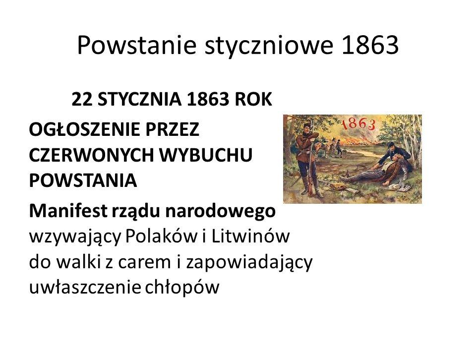 Powstanie styczniowe 1863 22 STYCZNIA 1863 ROK