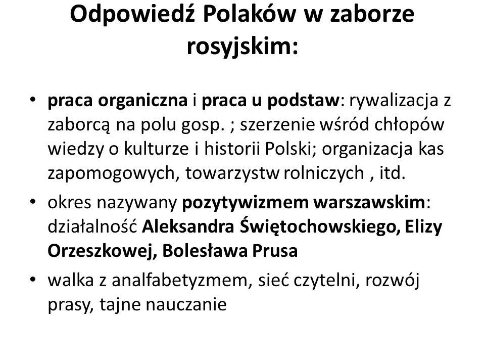 Odpowiedź Polaków w zaborze rosyjskim: