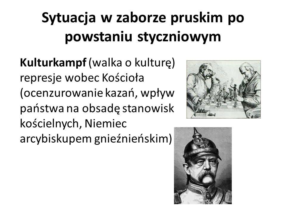 Sytuacja w zaborze pruskim po powstaniu styczniowym