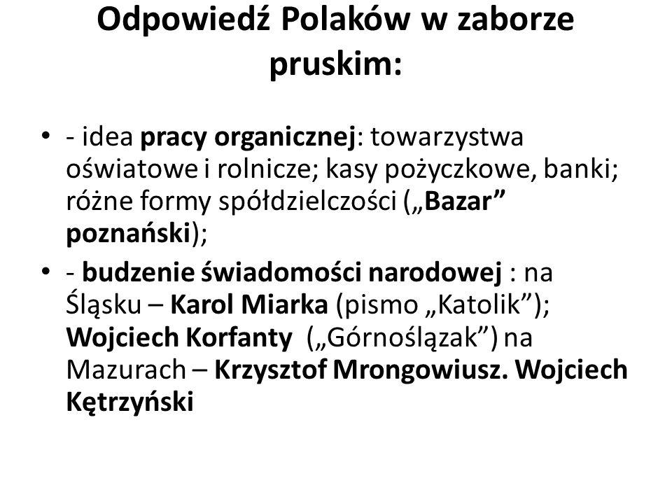 Odpowiedź Polaków w zaborze pruskim: