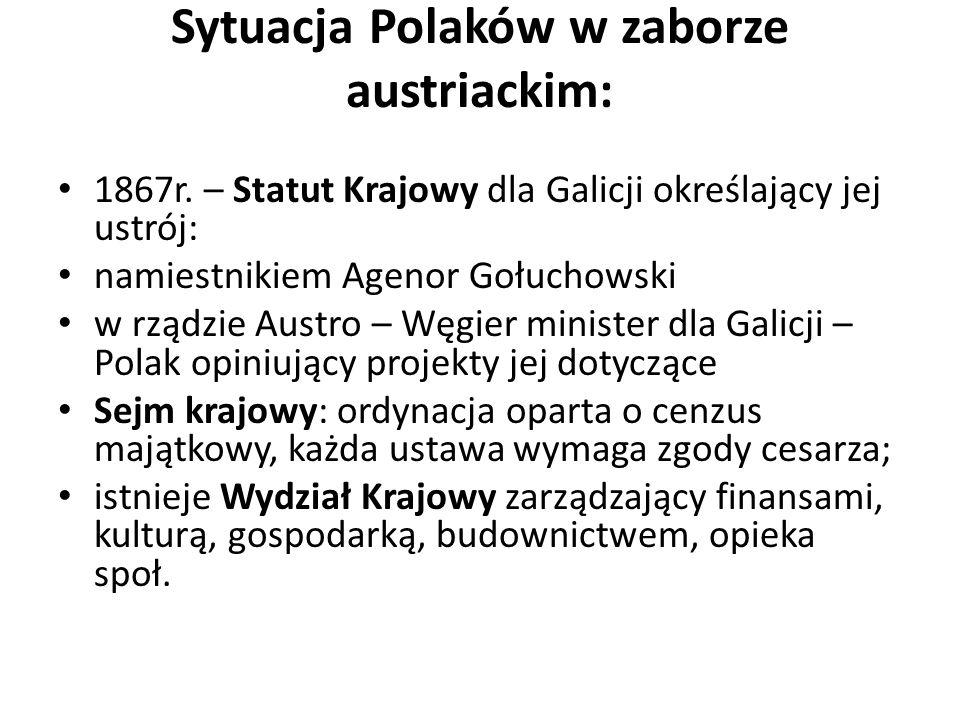 Sytuacja Polaków w zaborze austriackim: