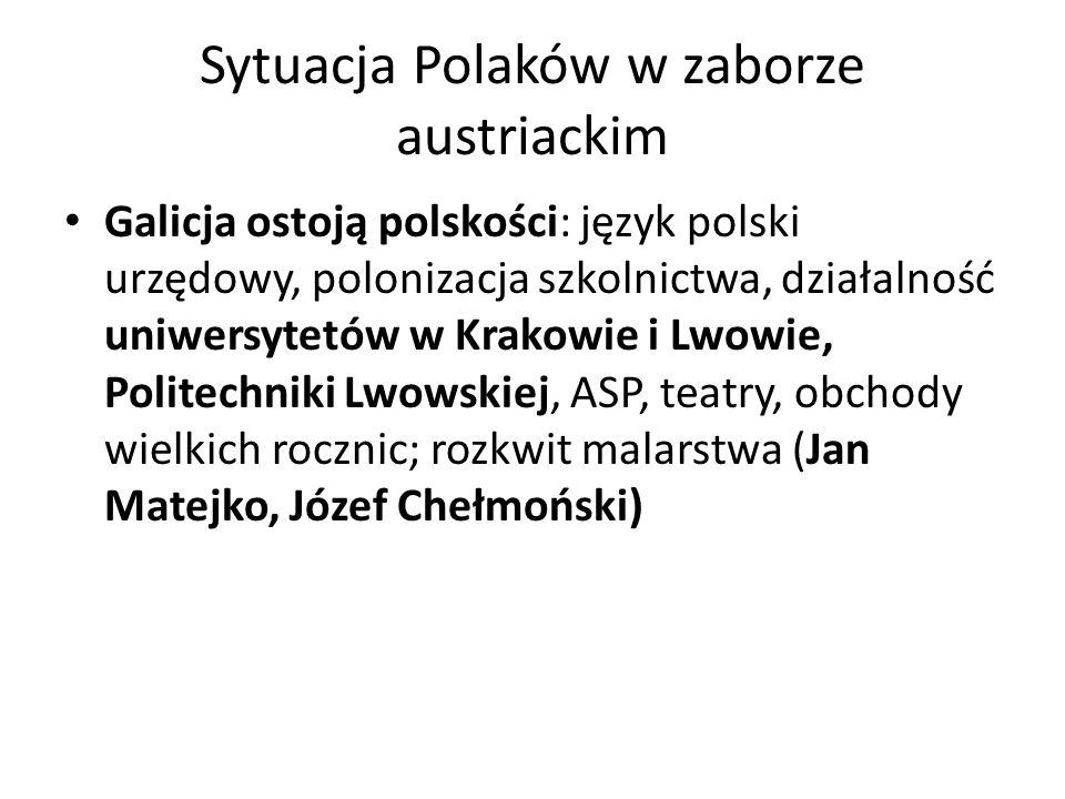 Sytuacja Polaków w zaborze austriackim