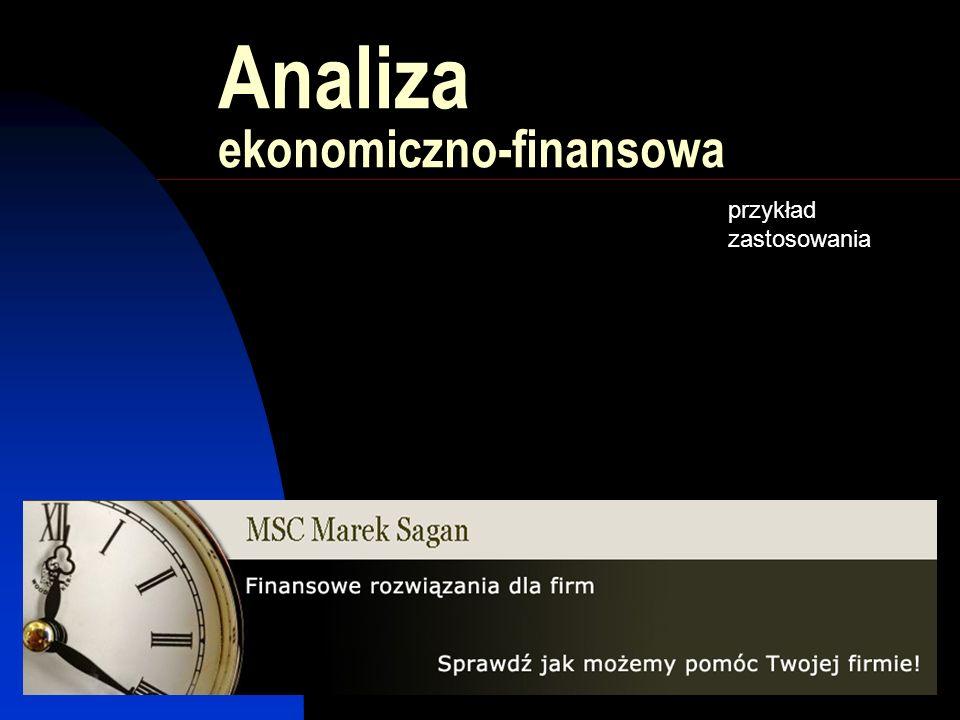Analiza ekonomiczno-finansowa