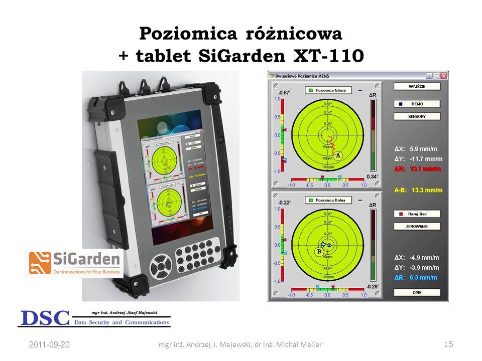 Poziomica różnicowa + tablet SiGarden XT-110