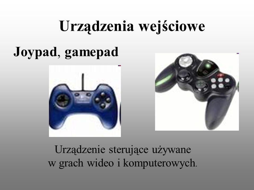 Urządzenie sterujące używane w grach wideo i komputerowych.