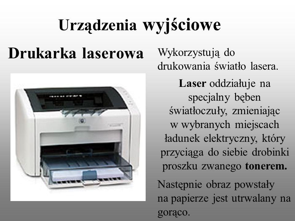 Urządzenia wyjściowe Drukarka laserowa