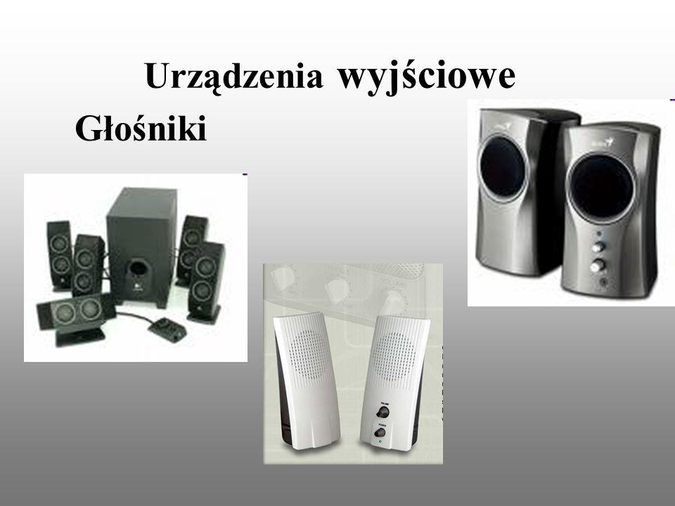 Urządzenia wyjściowe Głośniki