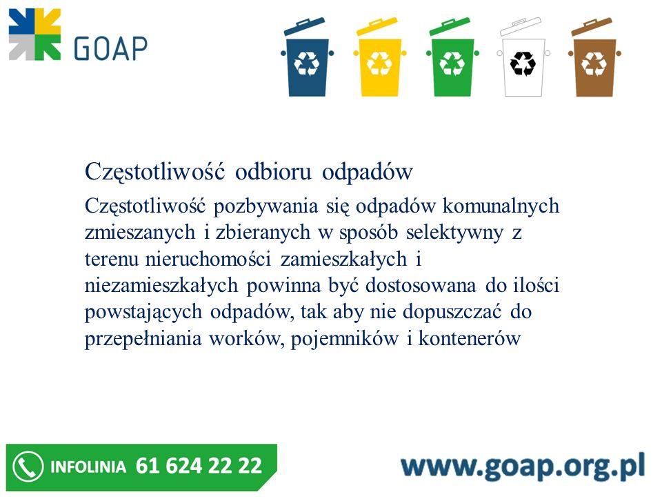 Częstotliwość odbioru odpadów