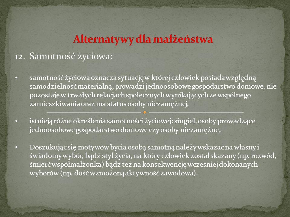 Alternatywy dla małżeństwa