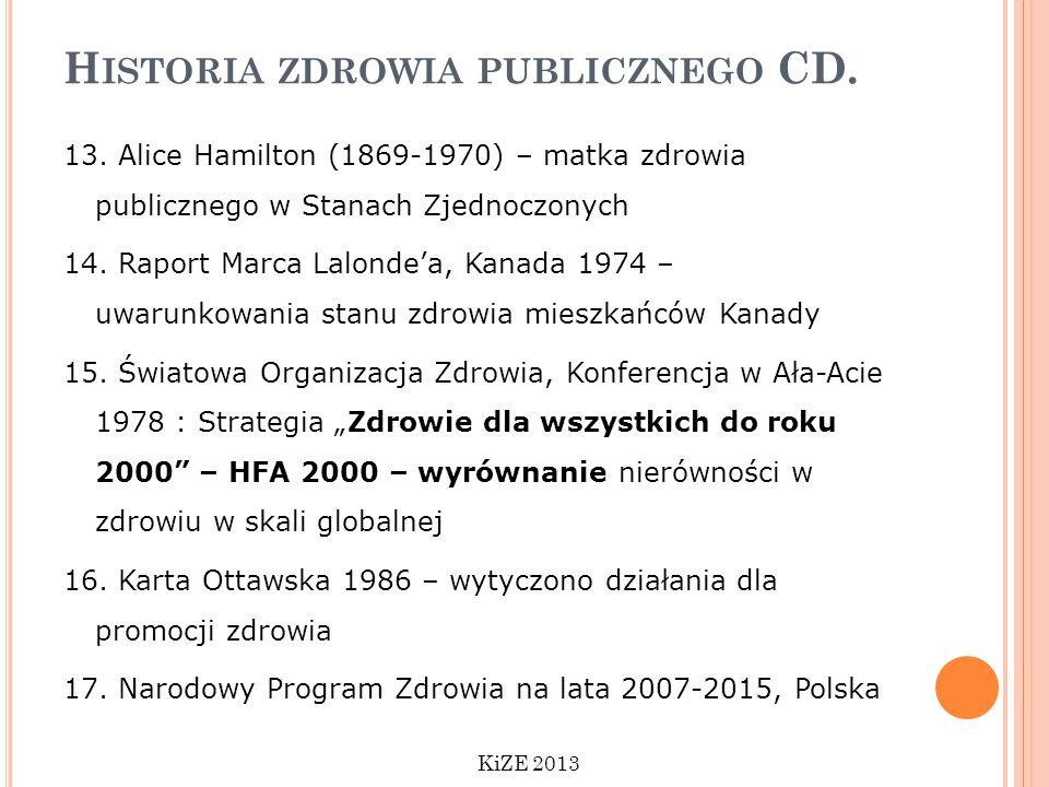Historia zdrowia publicznego CD.