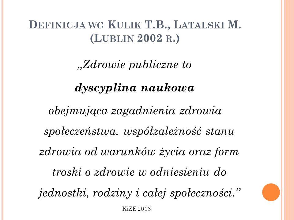 Definicja wg Kulik T.B., Latalski M. (Lublin 2002 r.)