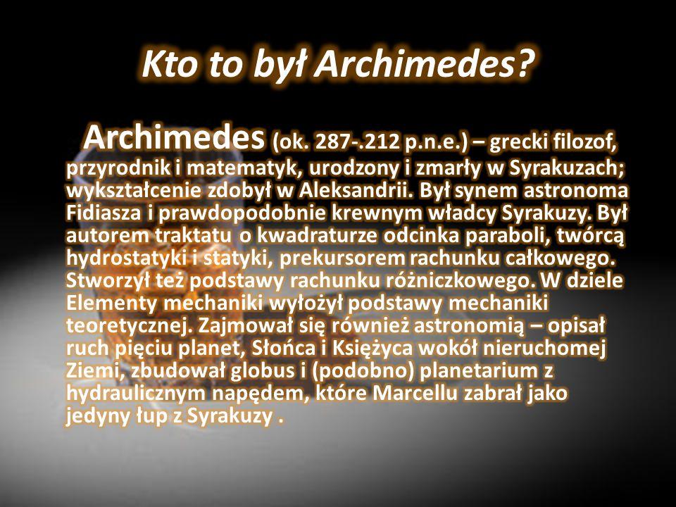 Kto to był Archimedes