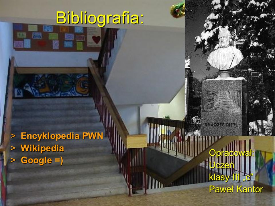 Bibliografia: Encyklopedia PWN Wikipedia Google =) Opracował: Uczeń