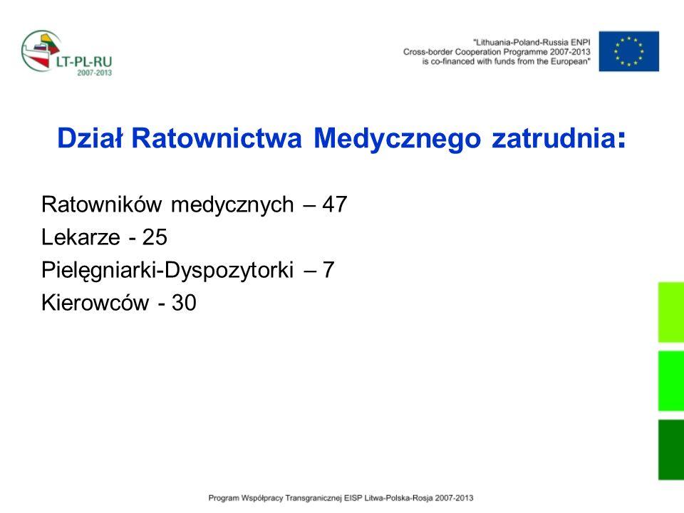 Dział Ratownictwa Medycznego zatrudnia: