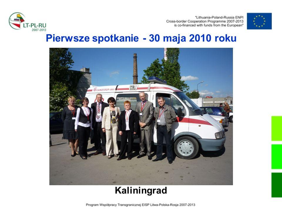 Pierwsze spotkanie - 30 maja 2010 roku