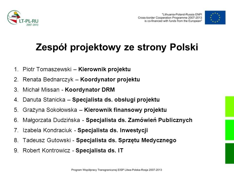 Zespół projektowy ze strony Polski