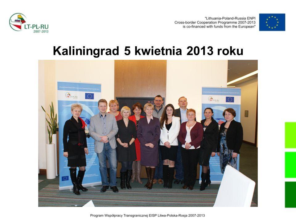 Kaliningrad 5 kwietnia 2013 roku