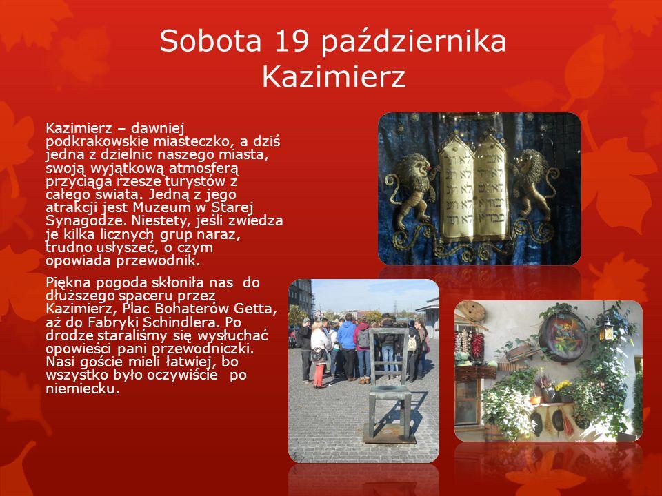 Sobota 19 października Kazimierz