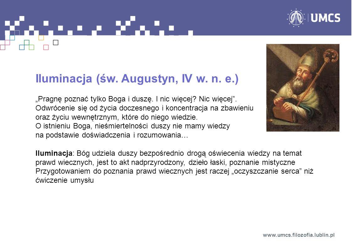 Iluminacja (św. Augustyn, IV w. n. e.)