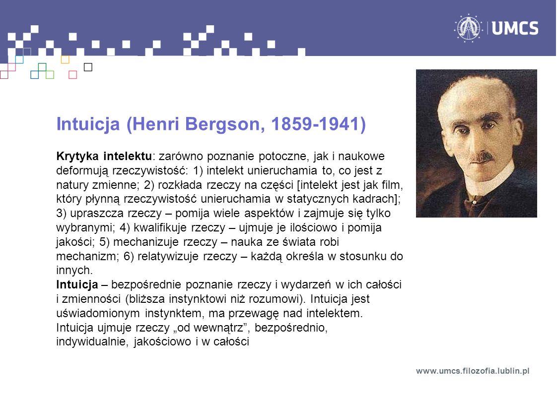 Intuicja (Henri Bergson, 1859-1941)