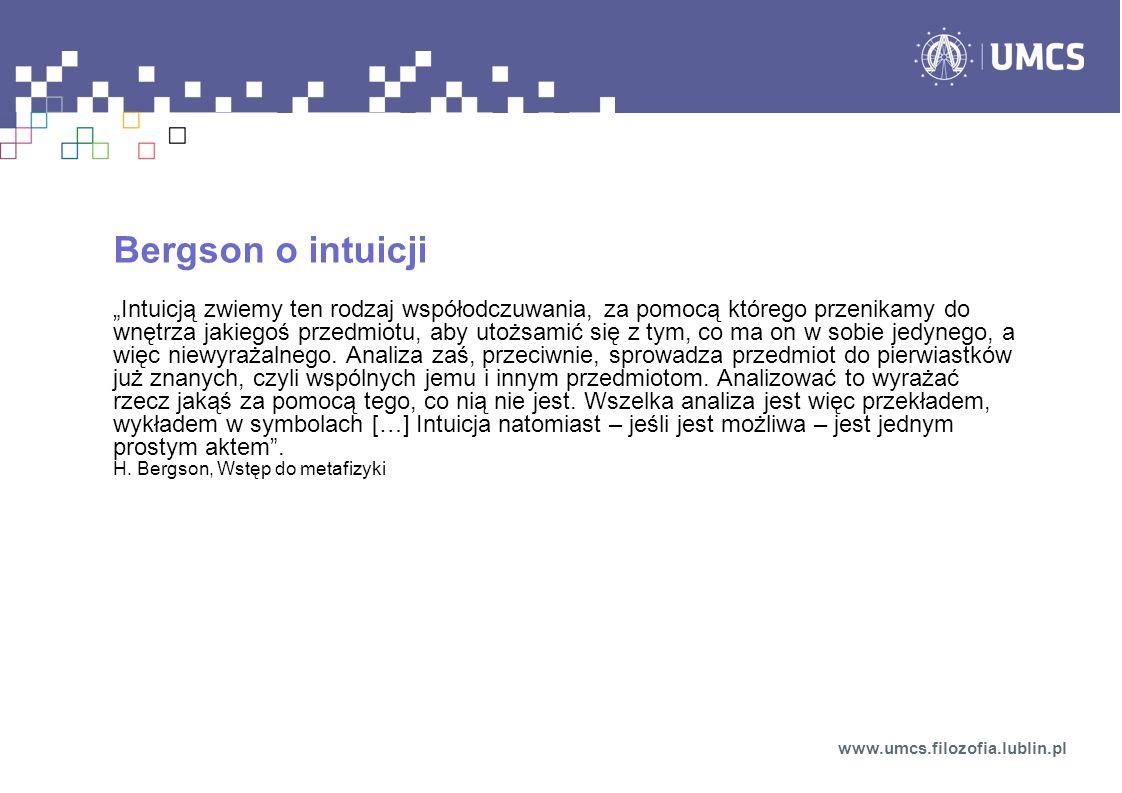 Bergson o intuicji