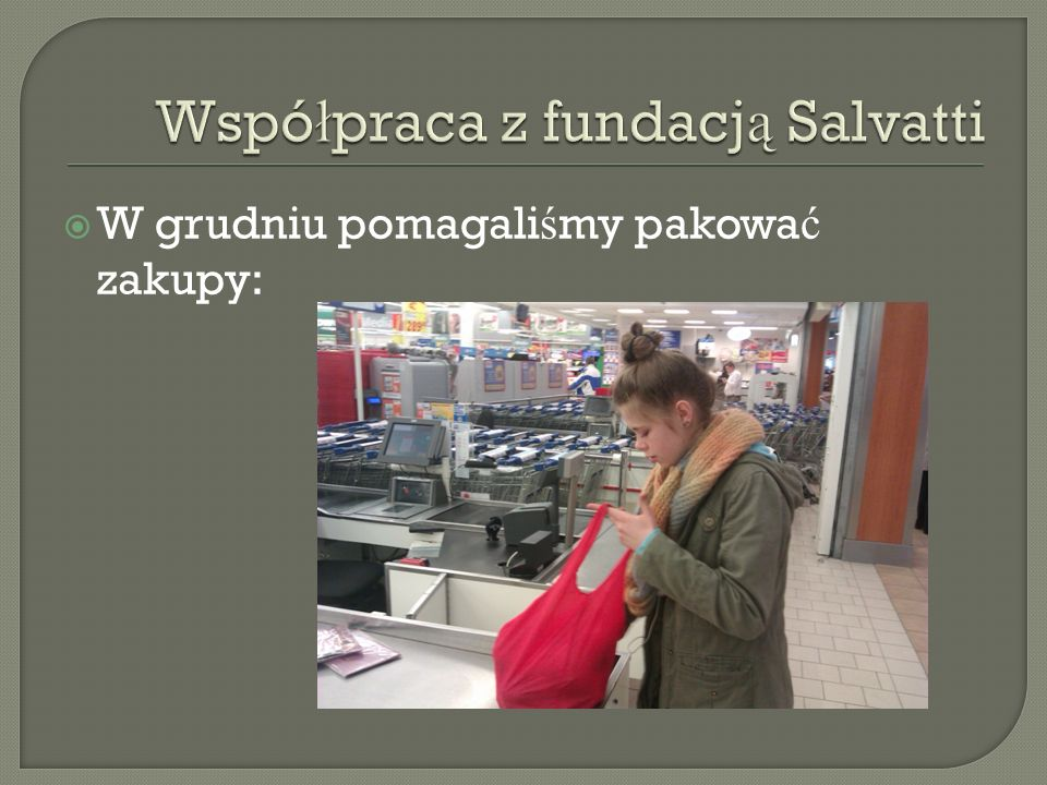 Współpraca z fundacją Salvatti