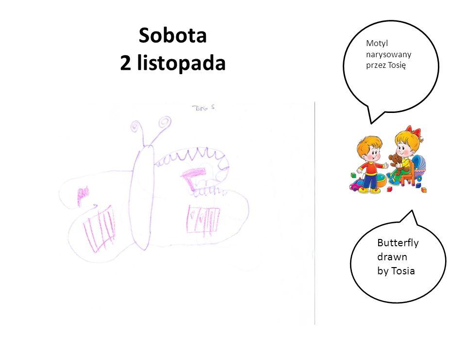 Sobota 2 listopada Butterfly drawn by Tosia